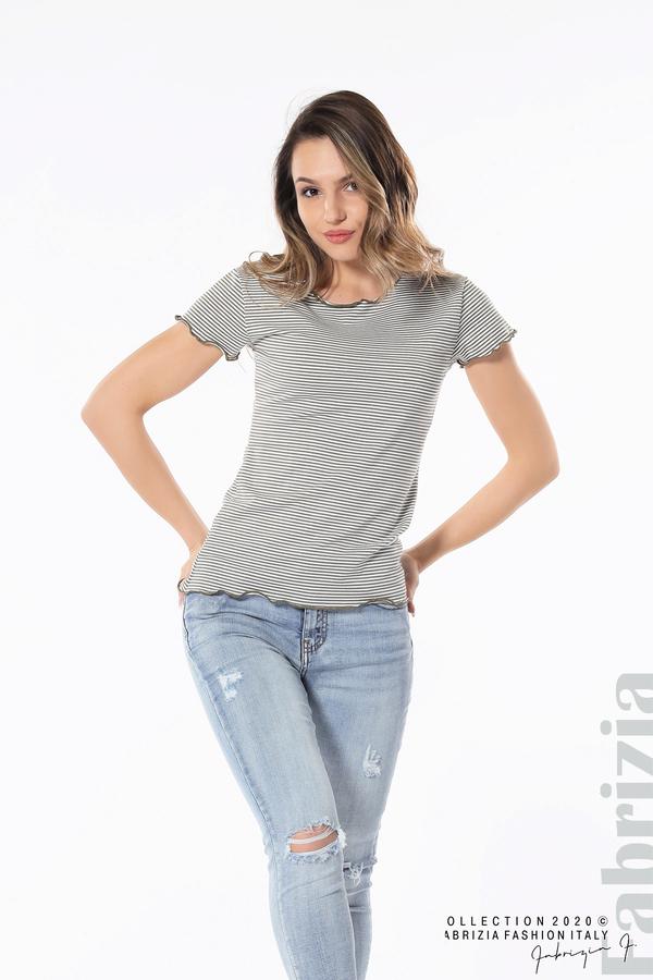 Блуза  с къдрички каки 3 fabrizia