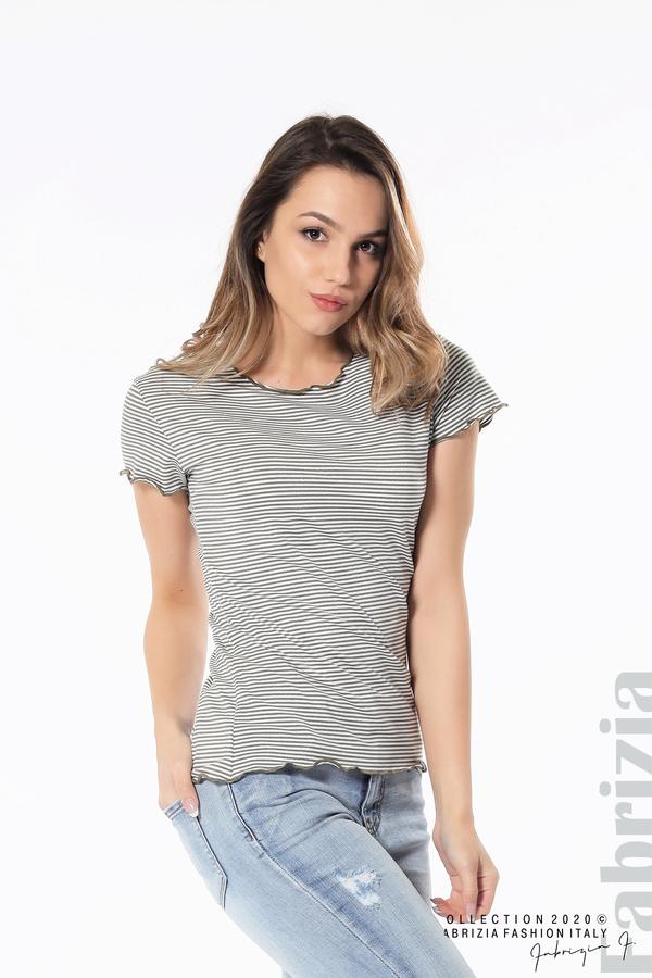 Блуза  с къдрички каки 1 fabrizia
