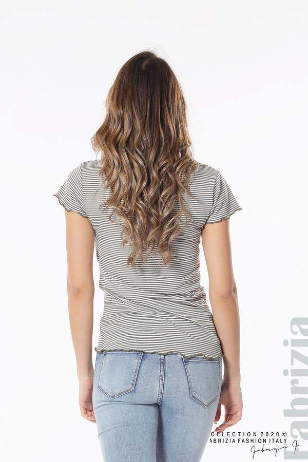 Блуза  с къдрички каки 5 fabrizia