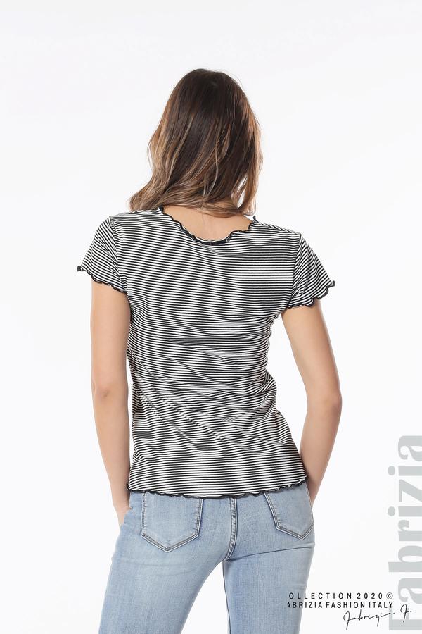 Блуза  с къдрички черен 5 fabrizia