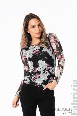Блуза от тюл с орхидеи