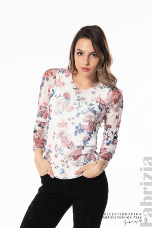 Блуза от тюл с рози