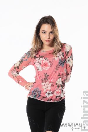Тюлена блуза с цветя
