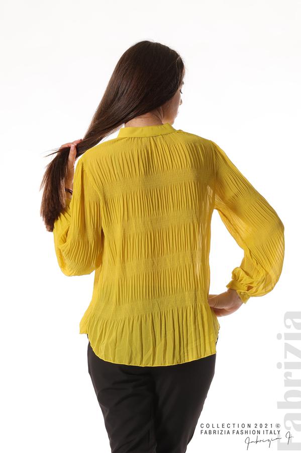 Ефирна блуза със свободен силует жълт 6 fabrizia