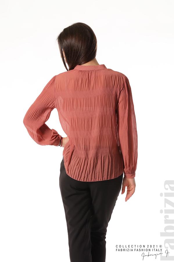 Ефирна блуза със свободен силует корал 6 fabrizia