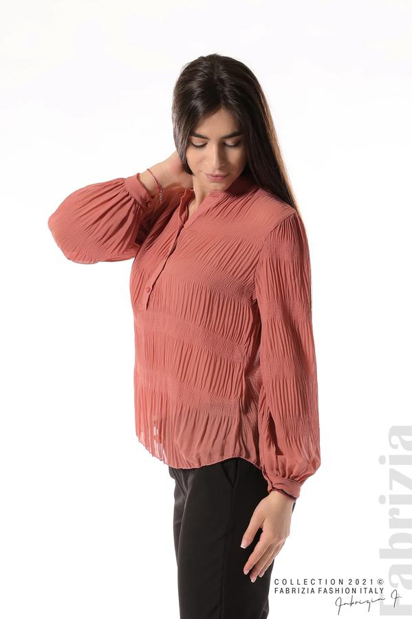 Ефирна блуза със свободен силует корал 4 fabrizia