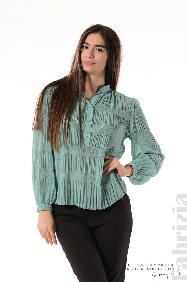 Ефирна блуза със свободен силует бл.зелен 1 fabrizia