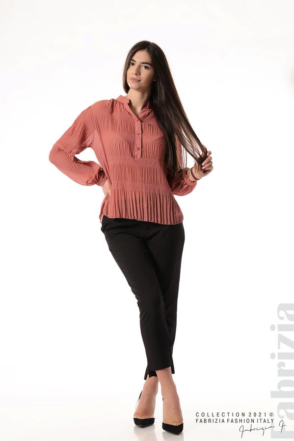 Ефирна блуза със свободен силует корал 5 fabrizia