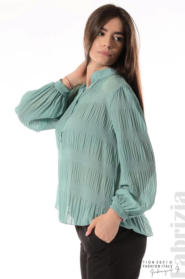 Ефирна блуза със свободен силует бл.зелен 2 fabrizia