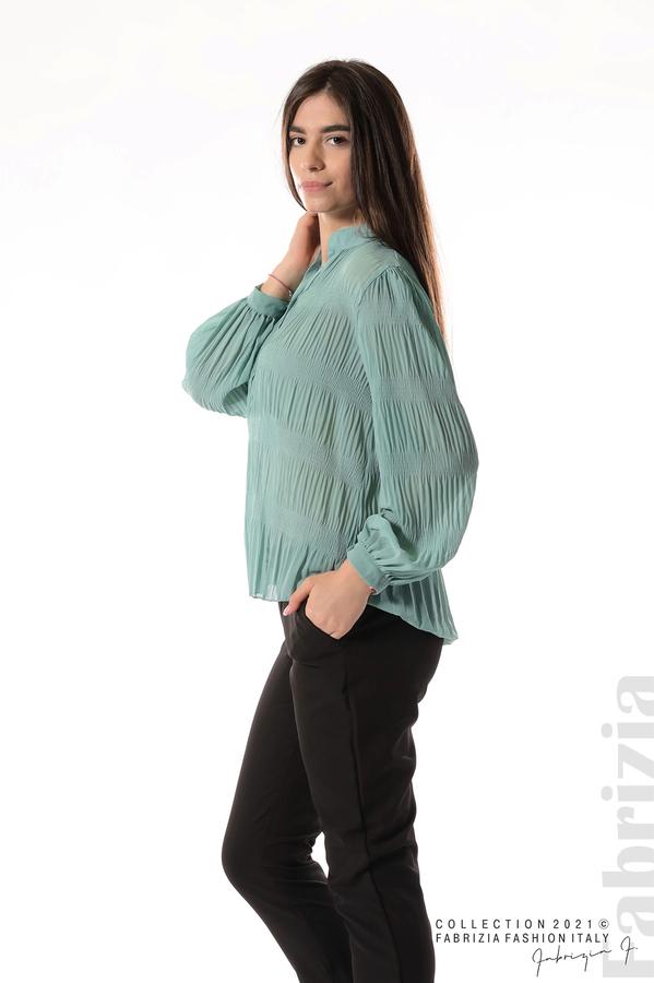 Ефирна блуза със свободен силует бл.зелен 5 fabrizia