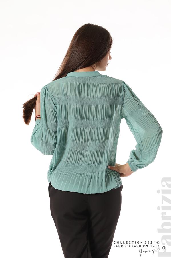 Ефирна блуза със свободен силует бл.зелен 6 fabrizia