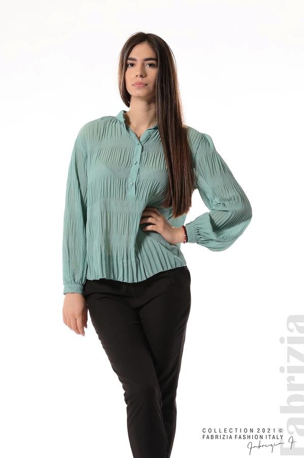 Ефирна блуза със свободен силует бл.зелен 4 fabrizia