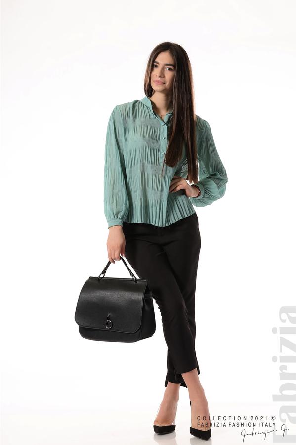 Ефирна блуза със свободен силует бл.зелен 3 fabrizia