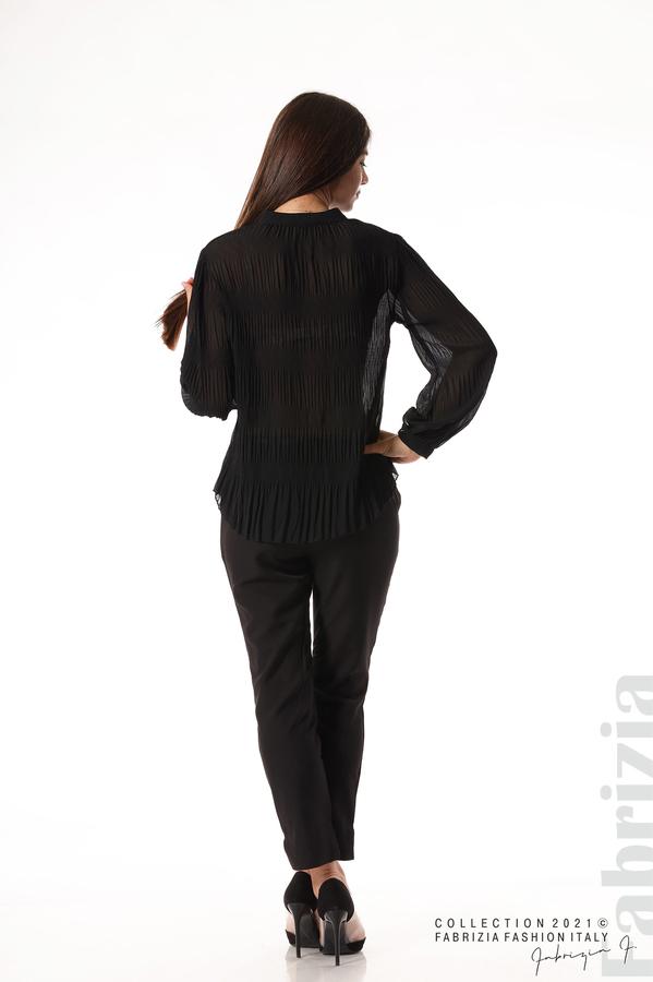 Ефирна блуза със свободен силует черен 6 fabrizia