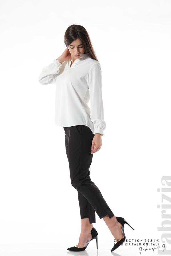 Елегантна блуза с ефектен гръб бял 3 fabrizia