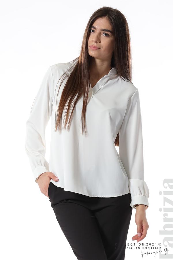 Елегантна блуза с ефектен гръб бял 2 fabrizia