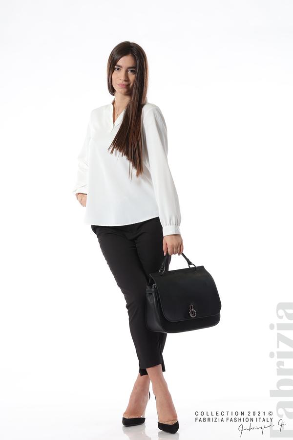 Елегантна блуза с ефектен гръб бял 4 fabrizia