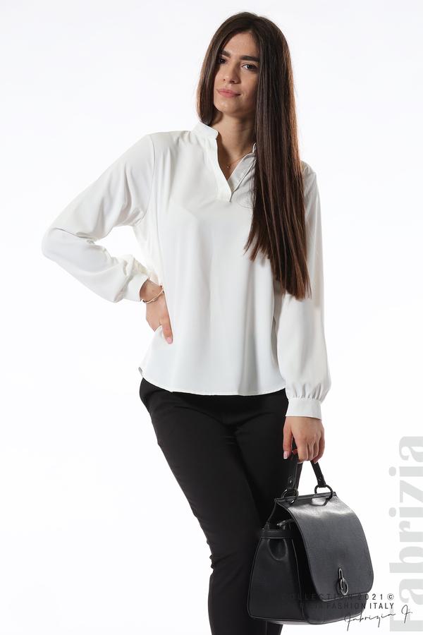Елегантна блуза с ефектен гръб бял 5 fabrizia