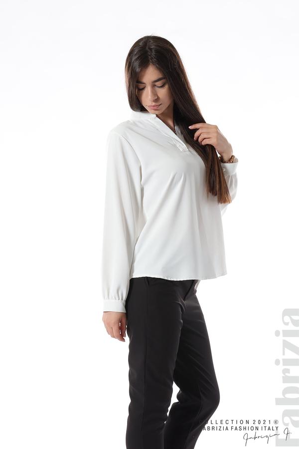 Елегантна блуза с ефектен гръб бял 1 fabrizia