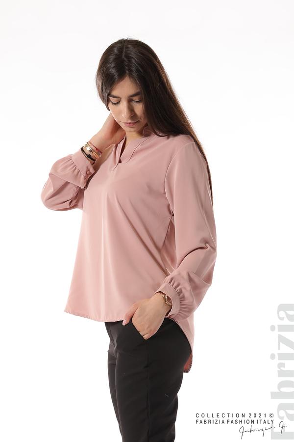 Елегантна блуза с ефектен гръб пепел от рози 5 fabrizia