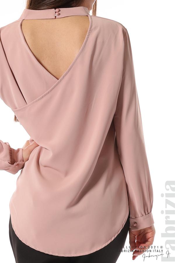 Елегантна блуза с ефектен гръб пепел от рози 2 fabrizia