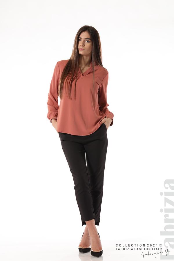 Елегантна блуза с ефектен гръб корал 3 fabrizia