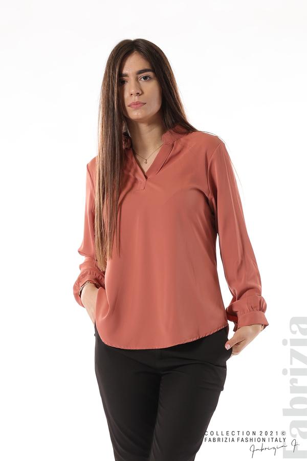Елегантна блуза с ефектен гръб корал 1 fabrizia