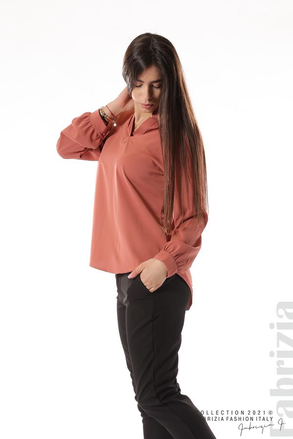 Елегантна блуза с ефектен гръб корал 4 fabrizia