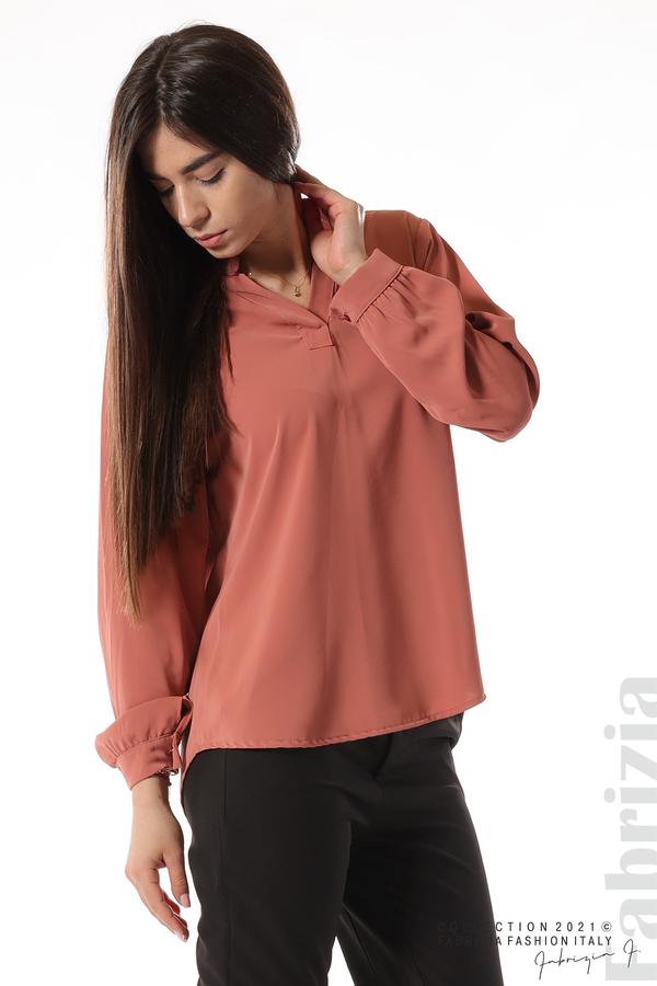 Елегантна блуза с ефектен гръб корал 2 fabrizia