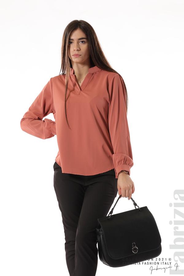 Елегантна блуза с ефектен гръб корал 5 fabrizia