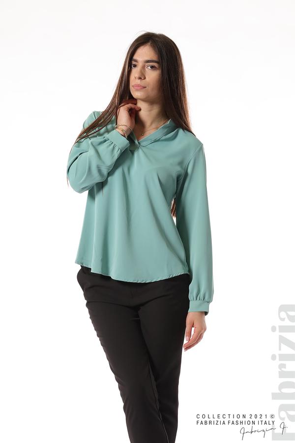 Елегантна блуза с ефектен гръб бл.зелен 3 fabrizia