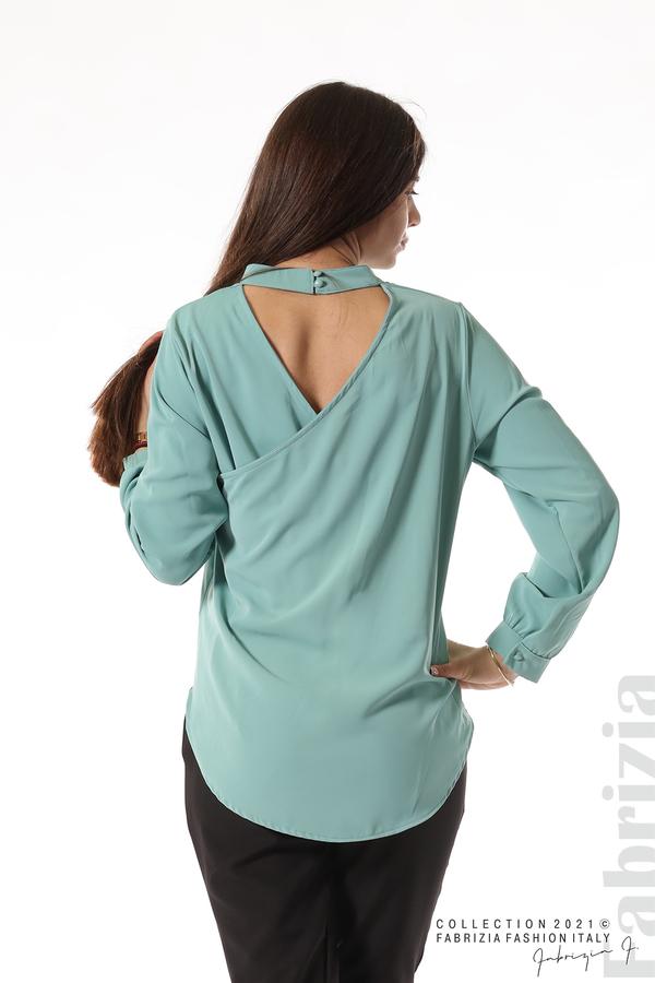 Елегантна блуза с ефектен гръб бл.зелен 6 fabrizia
