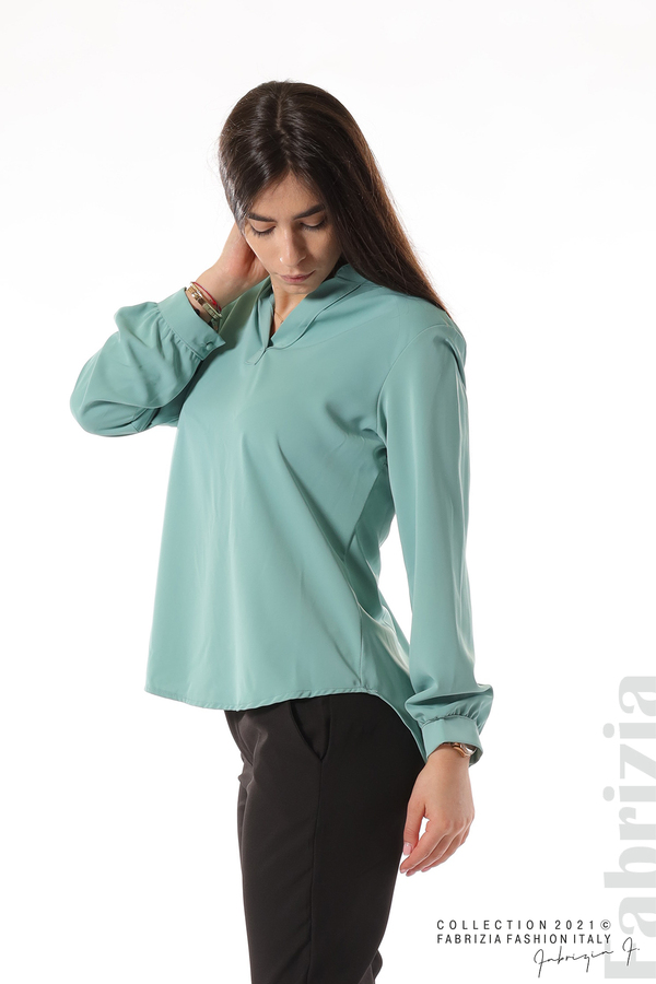 Елегантна блуза с ефектен гръб бл.зелен 1 fabrizia