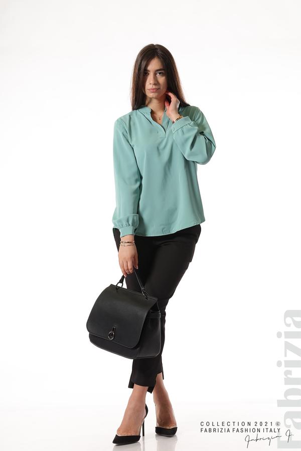 Елегантна блуза с ефектен гръб бл.зелен 5 fabrizia