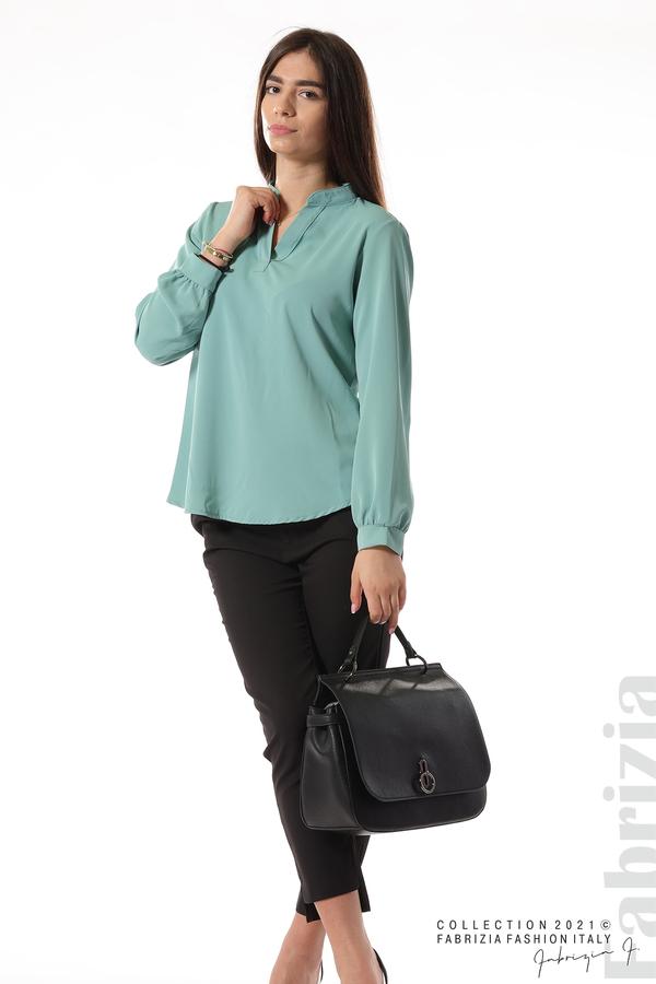 Елегантна блуза с ефектен гръб бл.зелен 4 fabrizia
