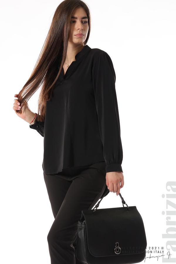 Елегантна блуза с ефектен гръб черен 4 fabrizia