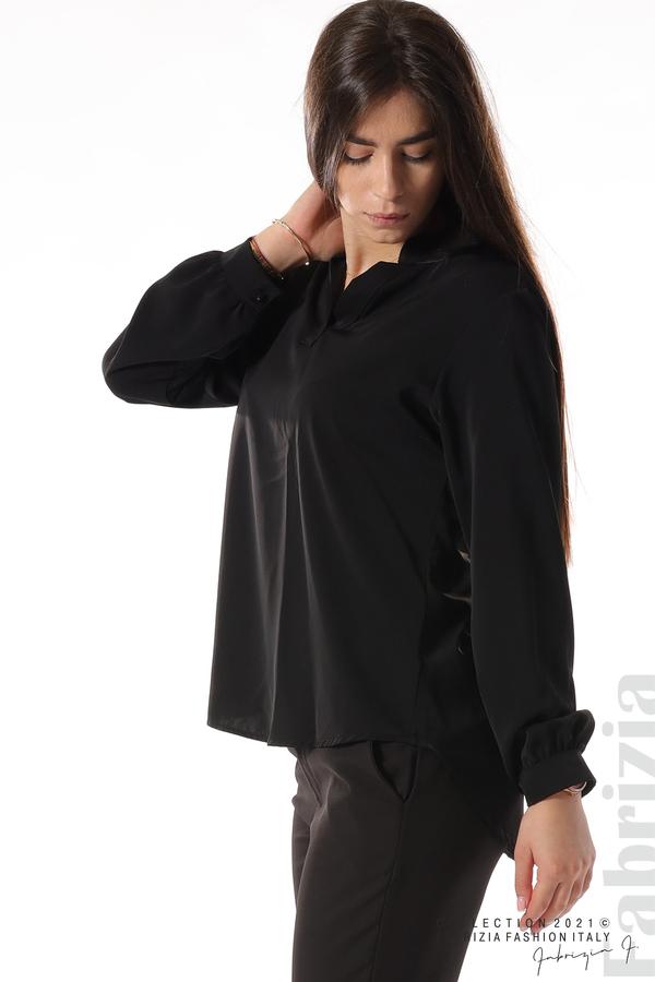 Елегантна блуза с ефектен гръб черен 6 fabrizia