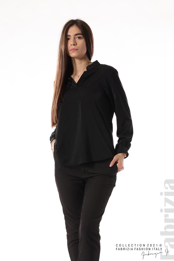 Елегантна блуза с ефектен гръб черен 5 fabrizia