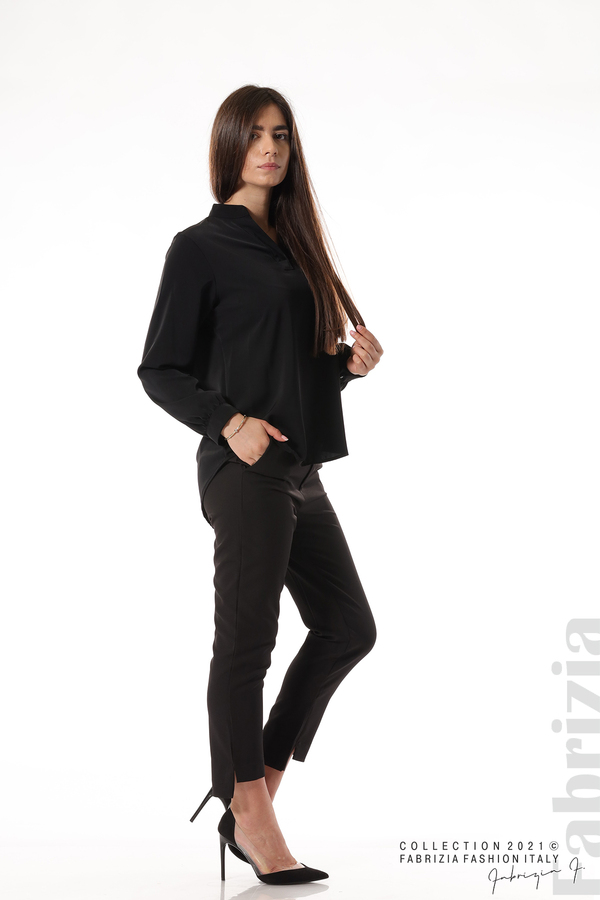 Елегантна блуза с ефектен гръб черен 7 fabrizia