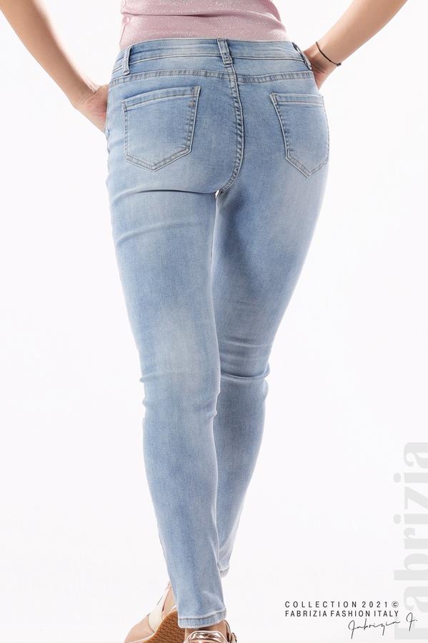 Светли дамски дънки Super Skinny 7 fabrizia