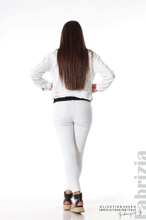 Късо дънково яке бял 8 fabrizia