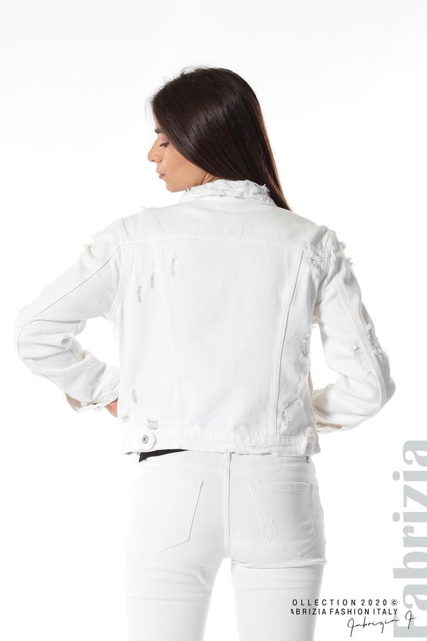 Късо дънково яке бял 9 fabrizia