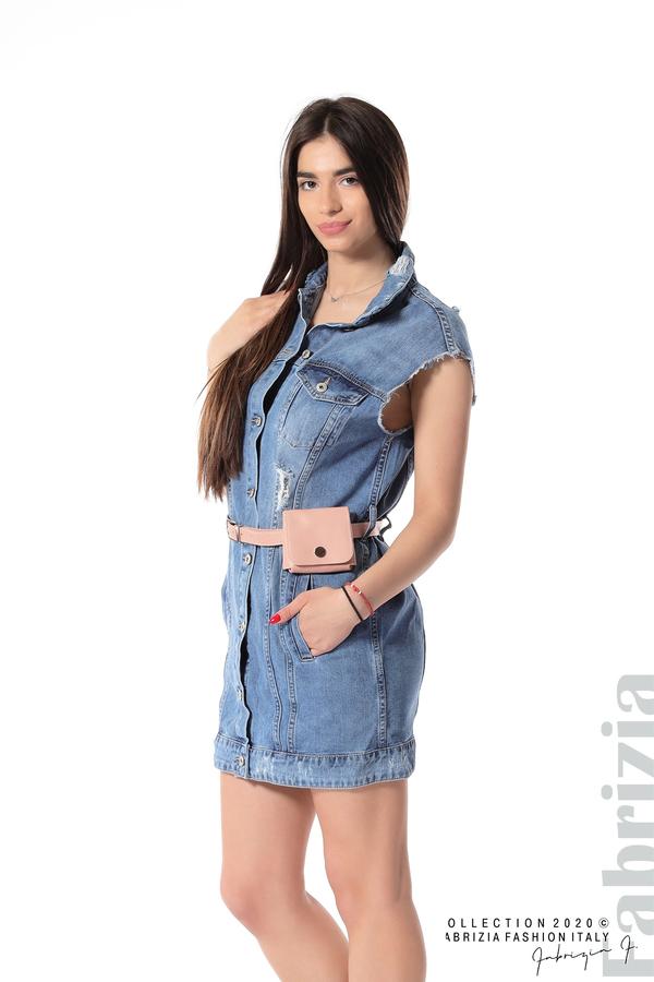 Дънкова рокля с аксесоар 1 fabrizia
