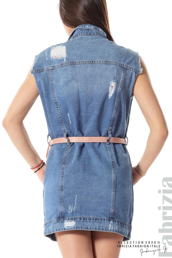 Дънкова рокля с аксесоар 7 fabrizia