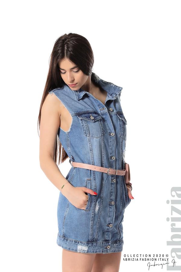 Дънкова рокля с аксесоар 2 fabrizia