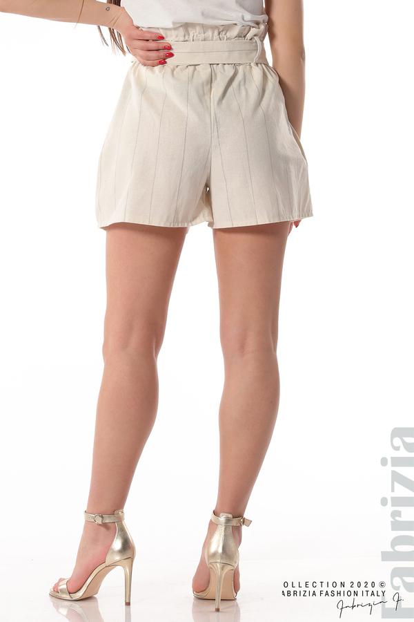 Къс панталон с колан екрю 6 fabrizia