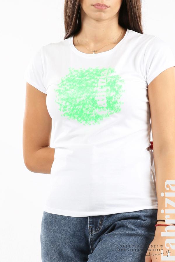 Дамска блуза Fabrizia бял/зелен 2 fabrizia