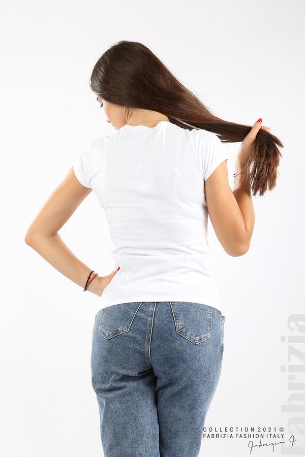 Дамска блуза Fabrizia бял/зелен 4 fabrizia