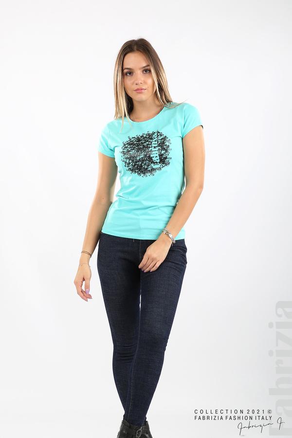 Дамска блуза Fabrizia аква 4 fabrizia