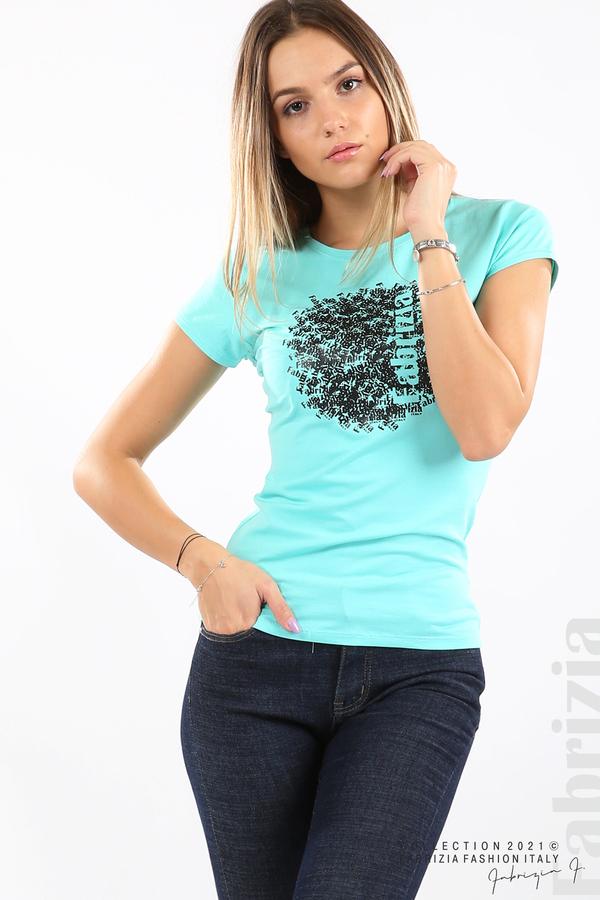 Дамска блуза Fabrizia аква 5 fabrizia